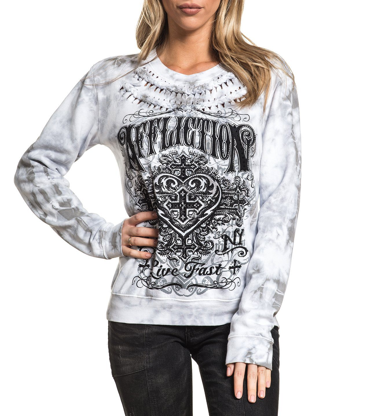 Ink - Womens Sweaters And Sweatshirts - Affliction Clothing