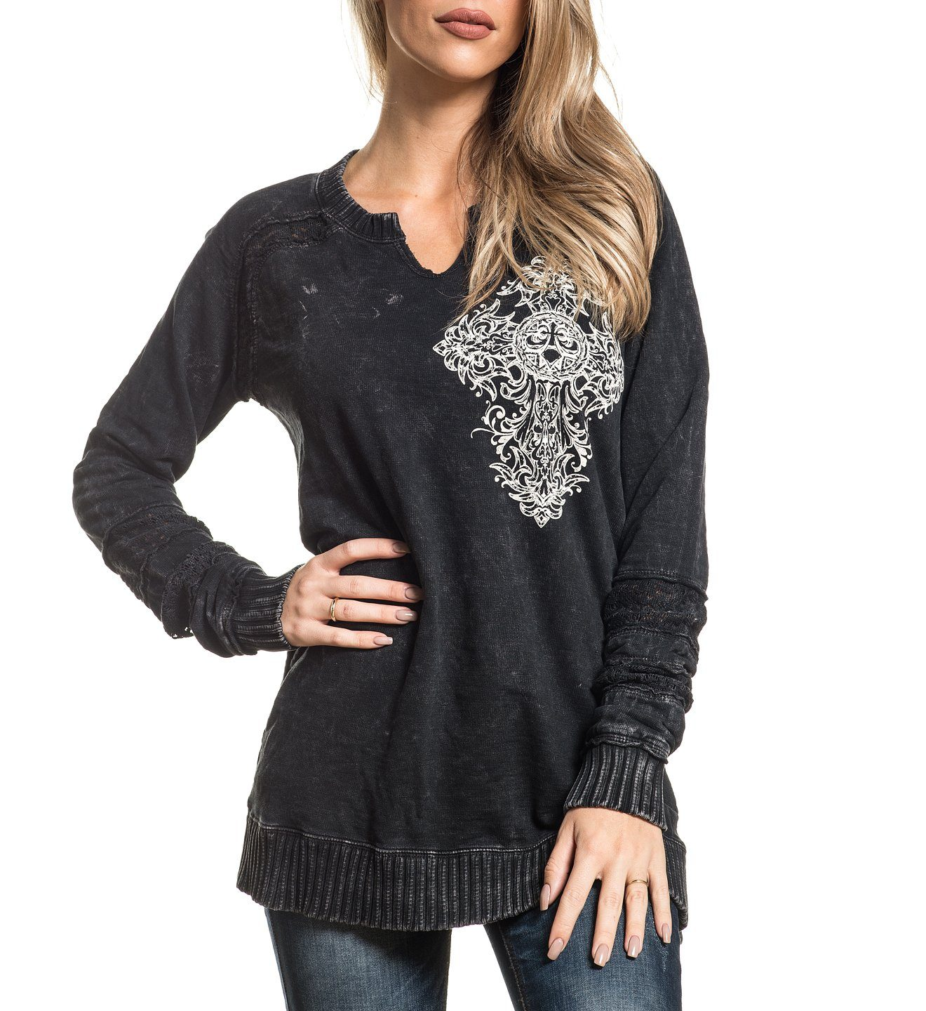 Womens Sweaters And Sweatshirts - Precious Metal