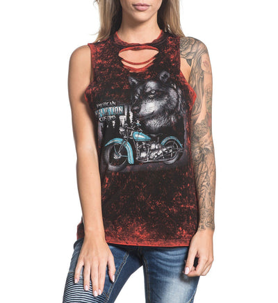 Womens Tank Tops - Wolf Motors