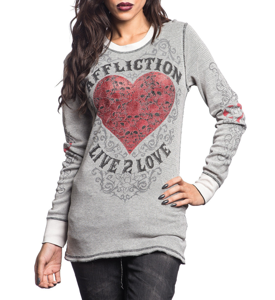 Womens Thermal Tops And 2fers - Live 2 Love Reversible