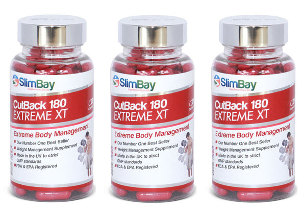 SlimBay CutBack XT Extreme 180mg Strong Fat Burners, Weight Management Supplements