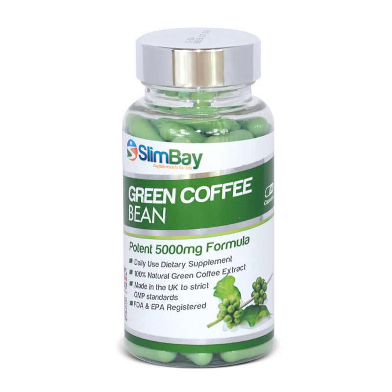 SlimBay Green Coffee Bean Extract 5000mg with 50% CGA (Chlorogenic Acid) - Natural Weight Loss Supplement