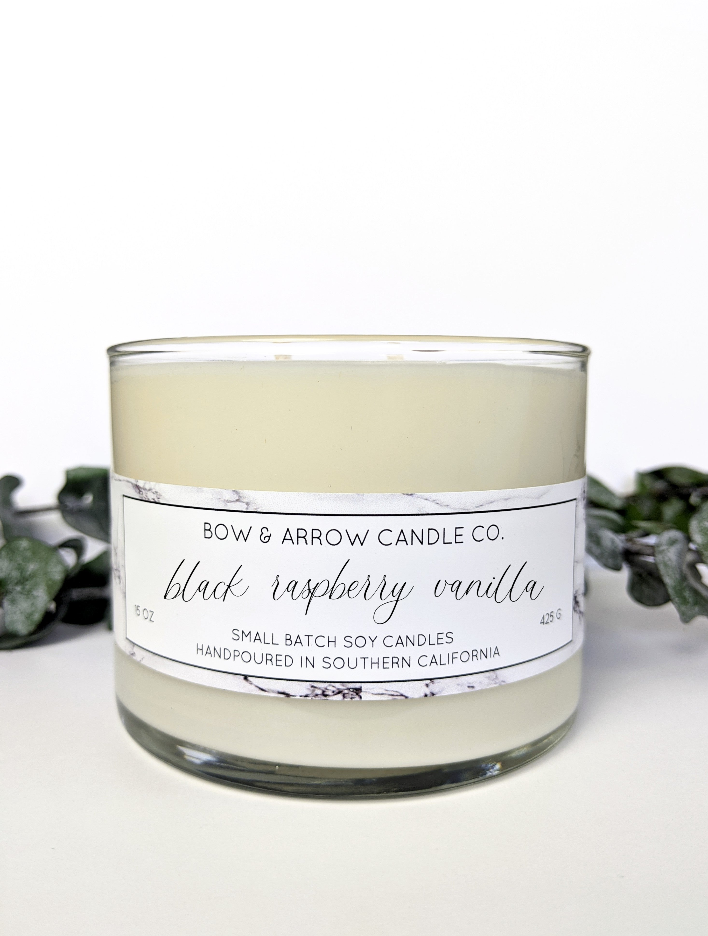 Black Raspberry Vanilla Scented 15 oz Soy Candle