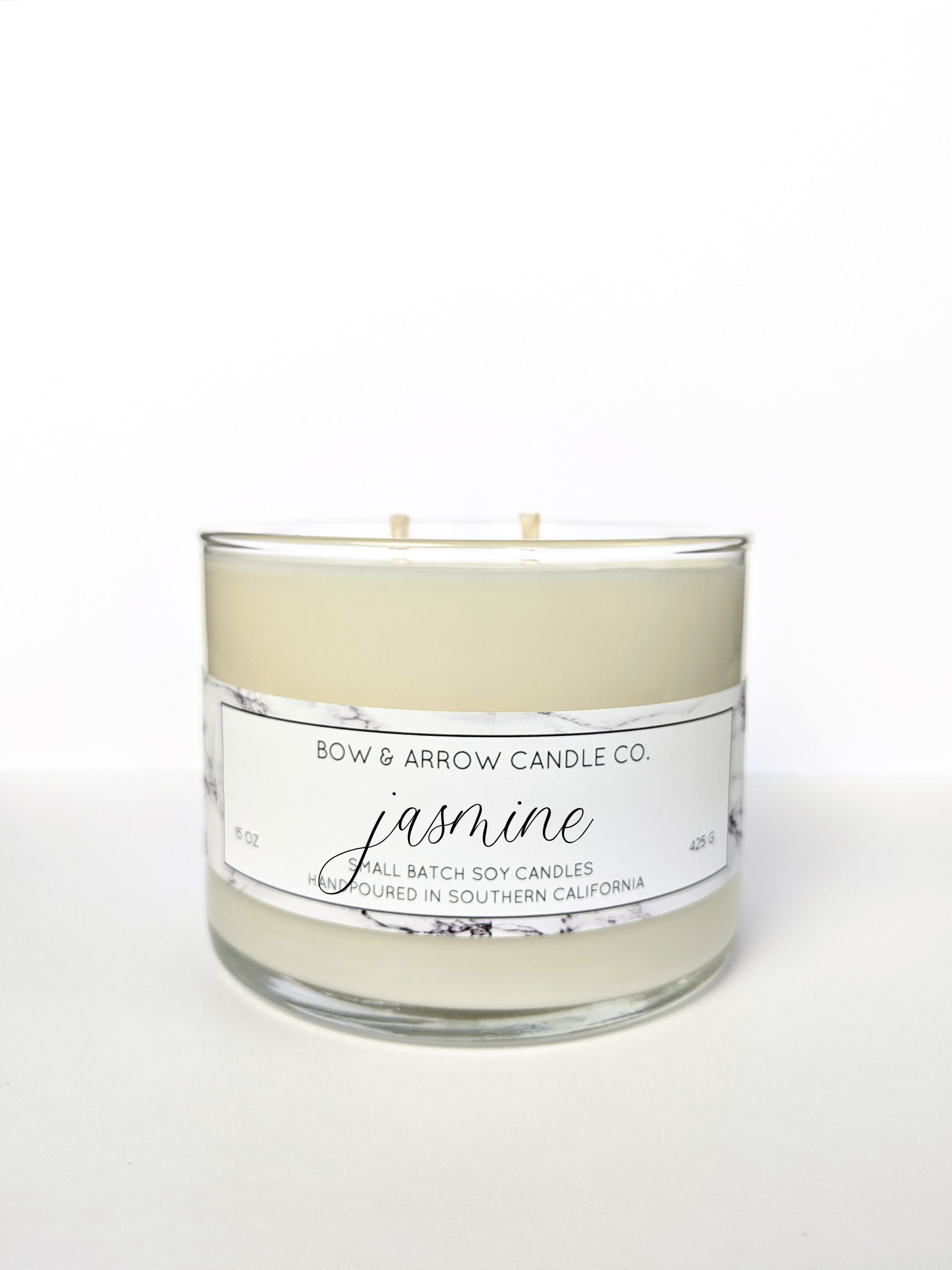 Jasmine Scented 15 oz Soy Candle