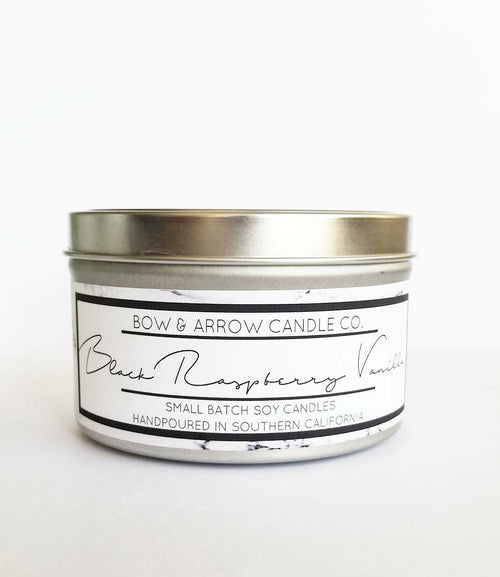 Black Raspberry Vanilla Scented 8 oz Soy Candle