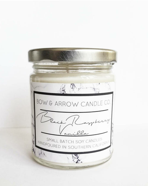 Black Raspberry Vanilla scented vegan soy candle