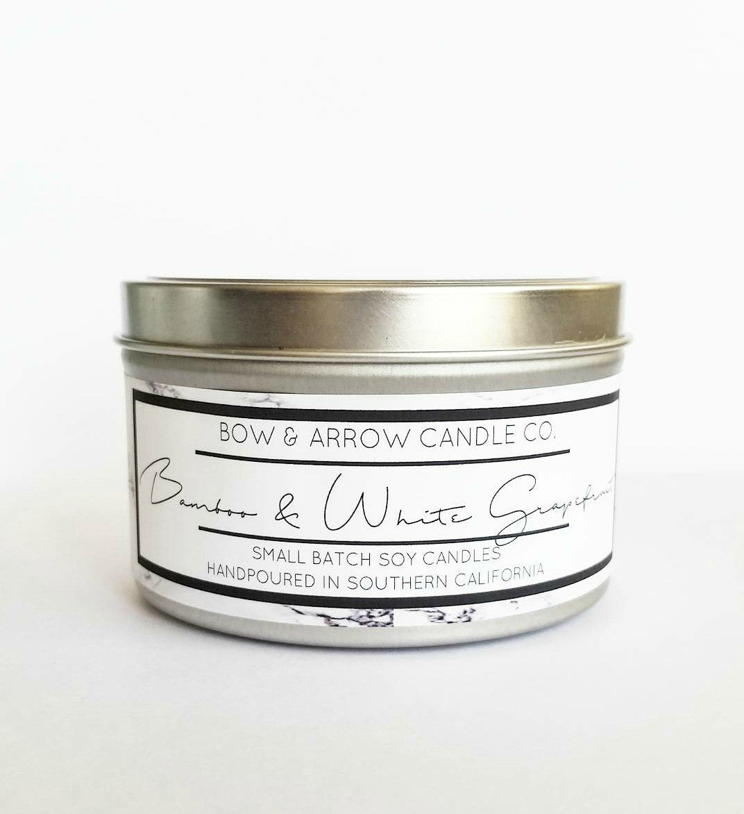 Bamboo & White Grapefruit Scented 8 oz Soy Candle