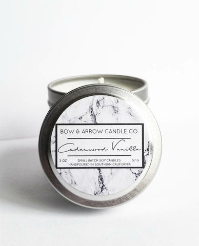 Leather Scented 2 oz Soy Candle