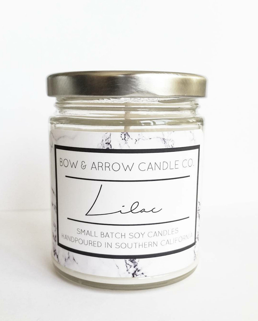 Lilac scented soy wax hand poured candle