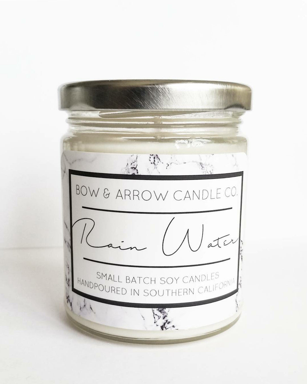 rain water scented floral soy candles