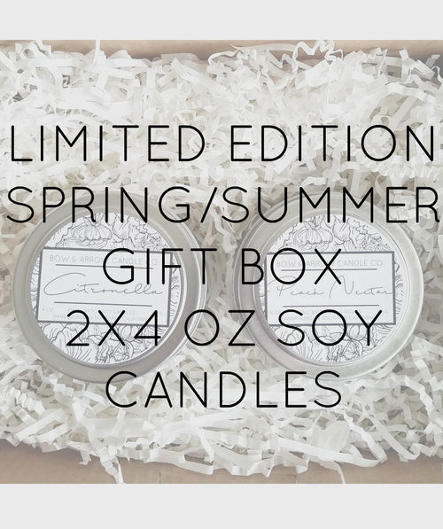 Pick Two 4 oz Spring & Summer Soy Candle Tins Gift Box