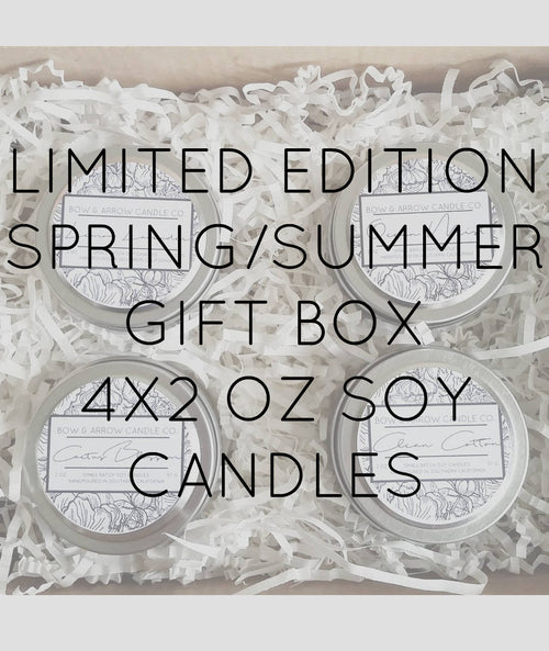 Pick Four 4 oz Spring & Summer Soy Candle Tins Gift Box