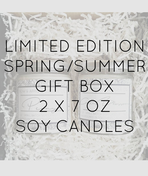 Pick Two 7 oz Spring & Summer Soy Candle Jars Gift Box