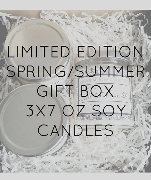Pick Three 7 oz Spring & Summer Soy Candle Jars Gift Box