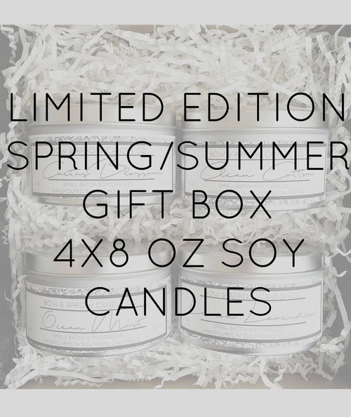 Pick Four 8 oz Spring & Summer Soy Candle Tins Gift Box