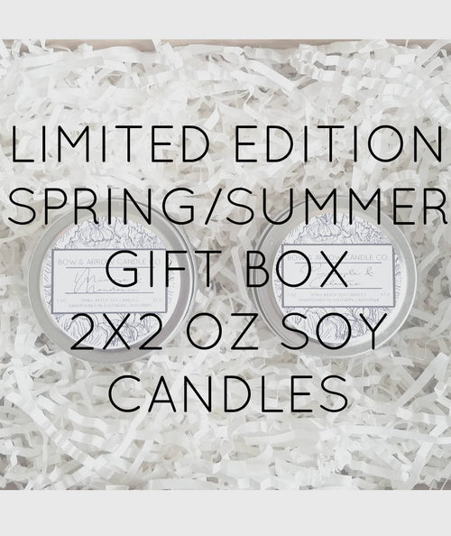 Pick Two 2 oz Spring & Summer Soy Candle Tins Gift Box