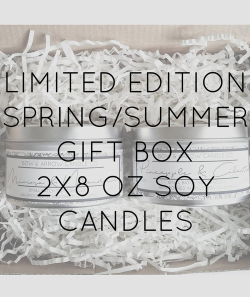 Pick Two 8 oz Spring & Summer Soy Candle Tins Gift Box