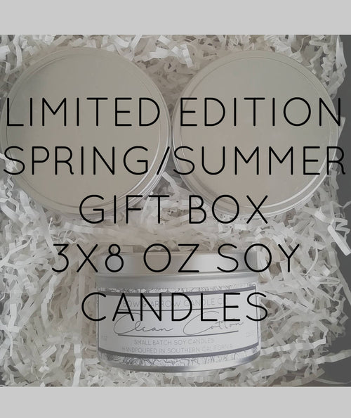 Pick Three 8 oz Spring & Summer Soy Candle Tins Gift Box