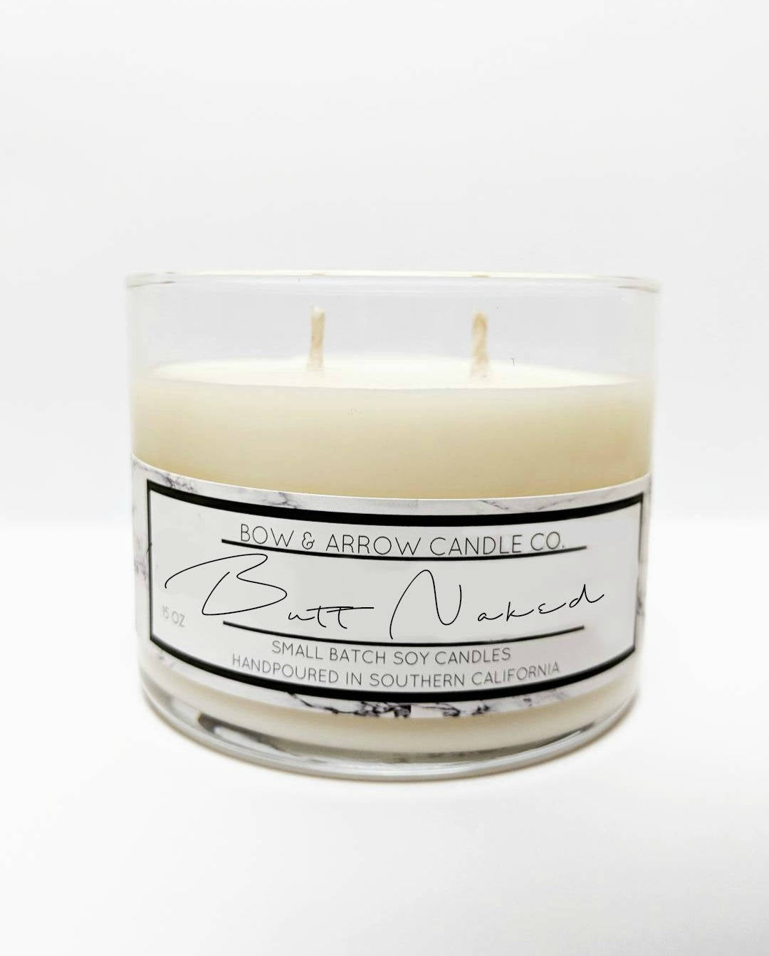 Butt naked scented candles