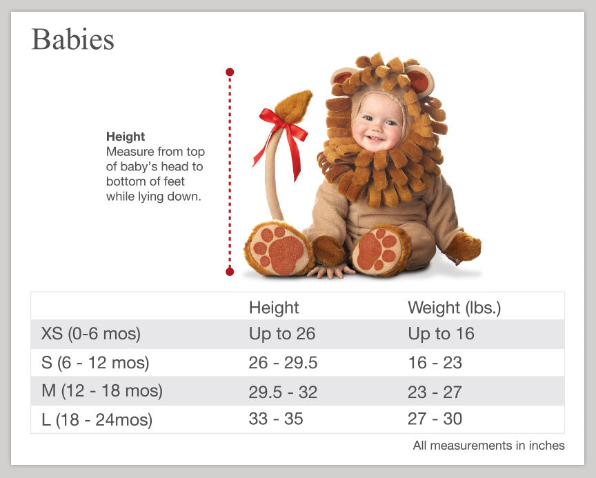 Baby Size Chart Template Find This Pin And More On Baby By