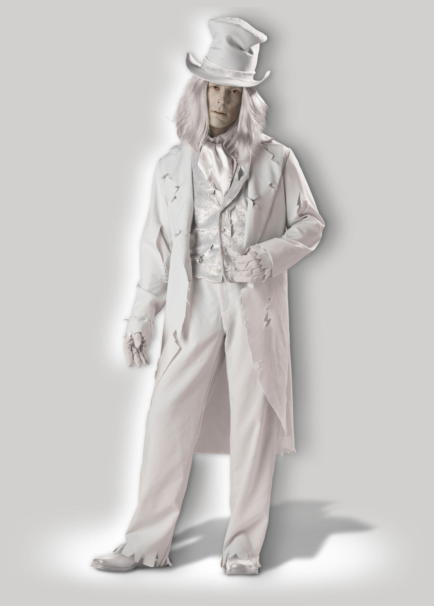 Ghostly Gent CM1034 & Ghost Deluxe Adult Costume u2013 InCharacter Costumes