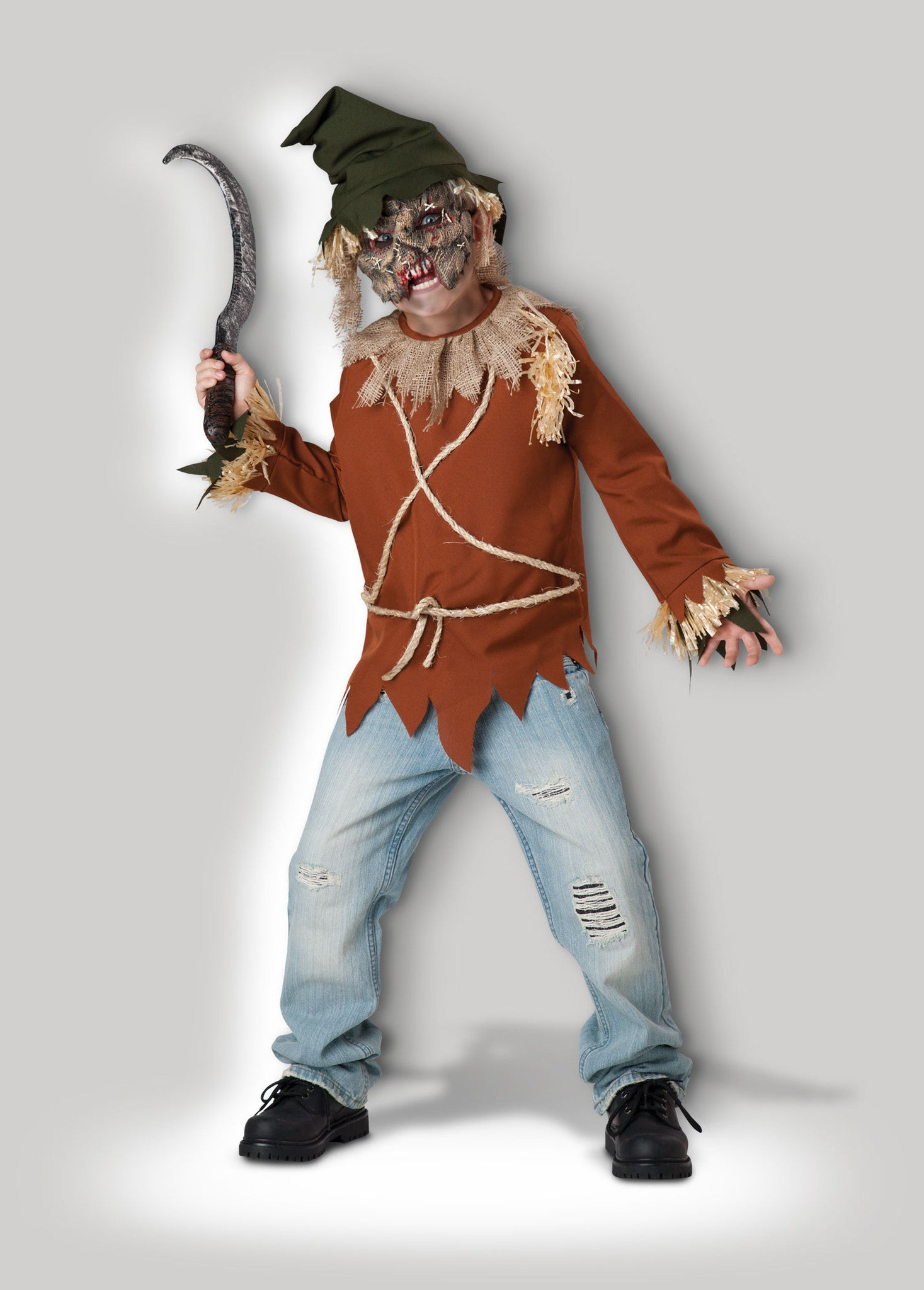 Psycho Scarecrow CB17071 & Child Scary Scarecrow Costume u2013 InCharacter Costumes
