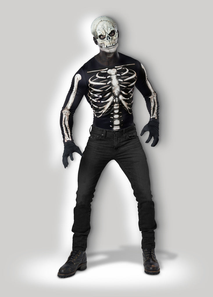 Skeleton Mask and Shirt Instant Costume CAE12025