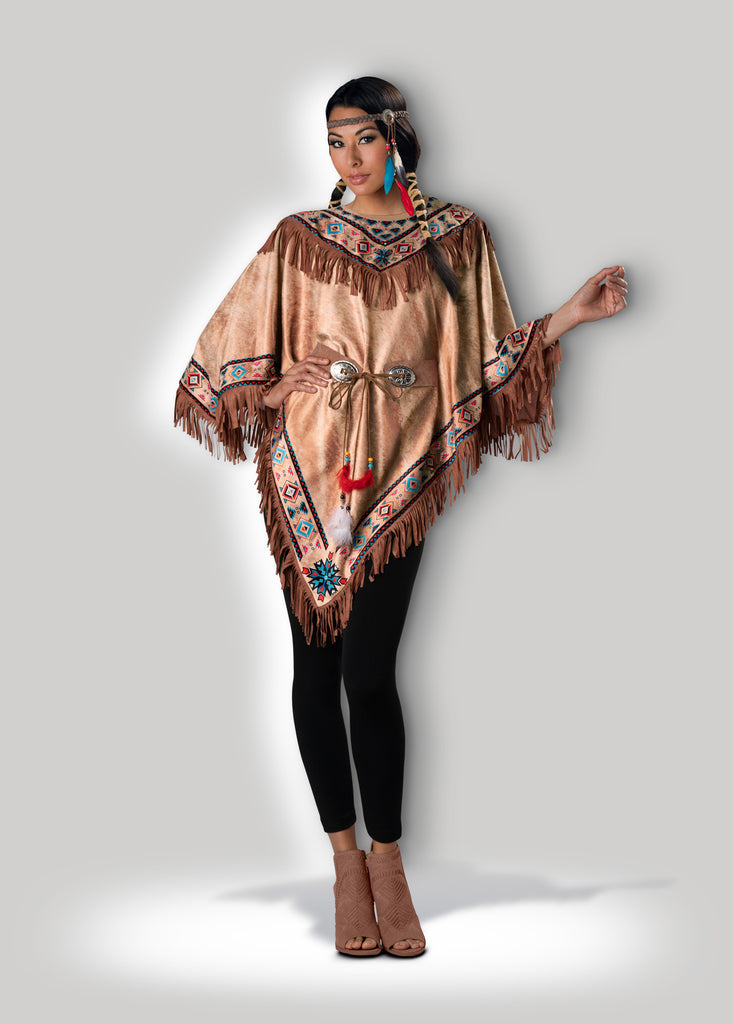Indian Maiden Poncho Instant Costume CAE12040