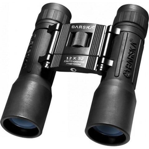 Barska Optics Lucid View Compact Binocular 12x32mm, Blue Lens, Black