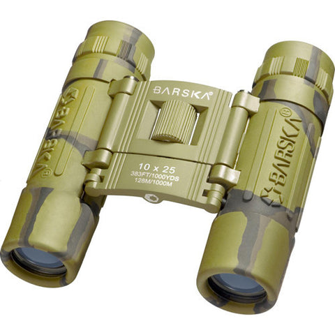 Barska Optics Lucid View Compact Binocular 10x25mm, Blue Lens, Camo