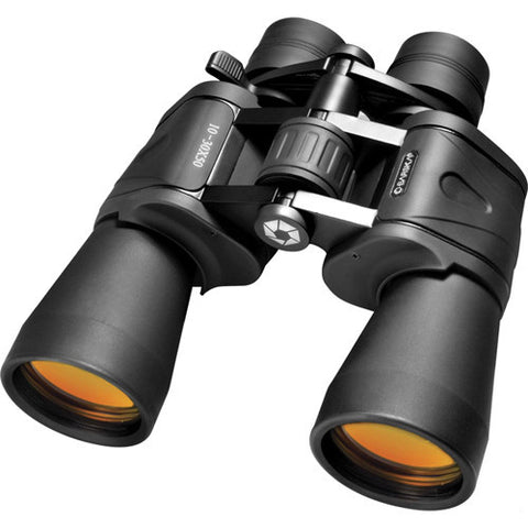 Barska Optics 10-30x50mm Gladiator Zoom Ruby Lens Porro BK-7 Prism Binoculars, Black