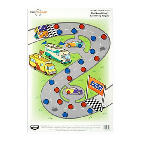 "Birchwood Casey Pregame Targets Checkered Flag, 12"" x 18"" Target (Per 8)"