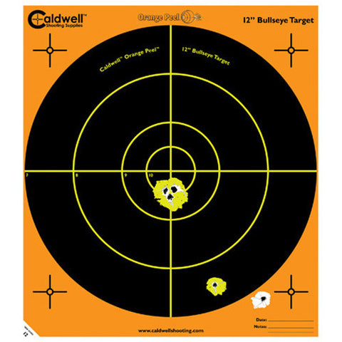 "Caldwell Orange Peel 12"" Bulls-Eye 10 Sheets"
