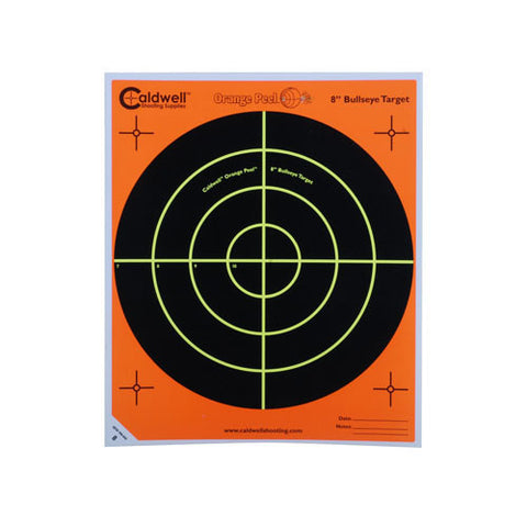 "Caldwell Orange Peel 8"" Bulls-Eye 10 Sheets"