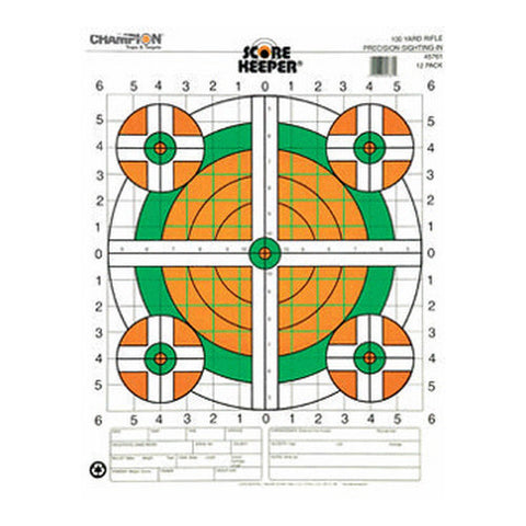 Champion Traps and Targets 100 Yard Sightin Rifle, Flourescent (Per 100)