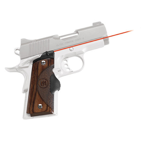 Crimson Trace 1911 Government/Commander Walnut LaserGrip, Front Activation
