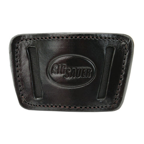 SigTac Open Top Conclmnt P290 Black Leather w/Clip/Loop