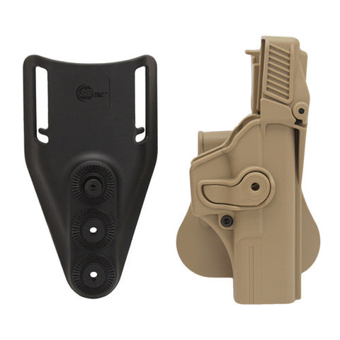 SigTac Retention Roto Paddle Holster, Level 3 Glock 17, 22, 31, 34, 35 Tan