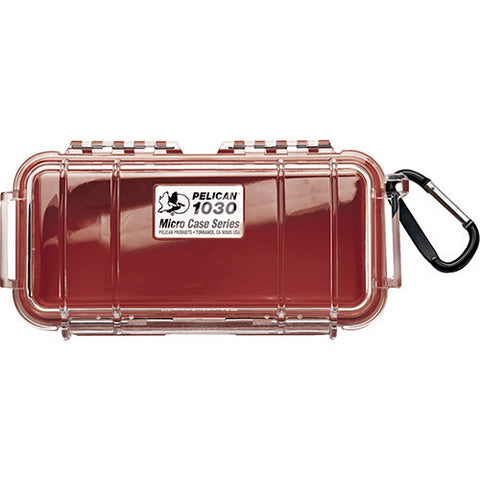 Pelican Micro Case with Clear Top 1030 Red
