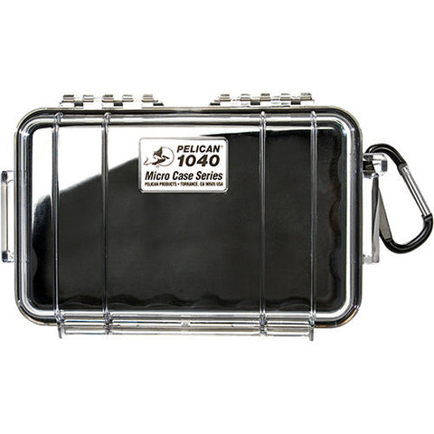 Pelican Micro Case with Clear Top 1040 Black