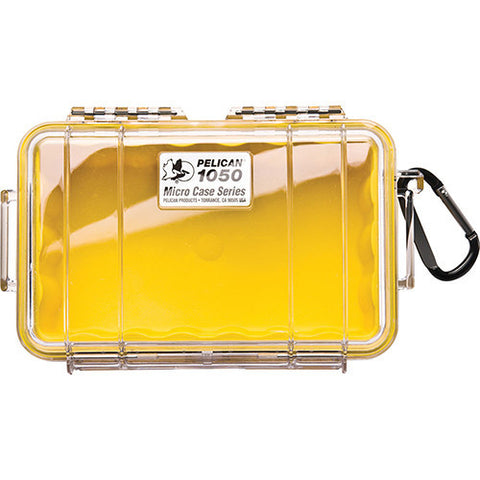 Pelican Micro Case with Clear Top 1050 Yellow