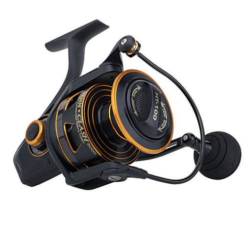 Penn Clash Spinning Reel 6000, 5.6:1 Gear Ratio, 9 Bearings, 25 lb Max Drag, Ambidextrous, Boxed