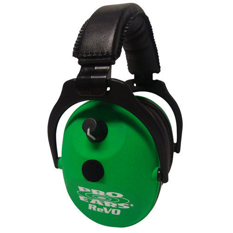 Pro Ears ReVO Electronic Noise Reduction Rating 25dB, Neon Greem