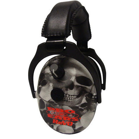 Pro Ears ReVO Electronic Noise Reduction Rating 25dB, Skulls