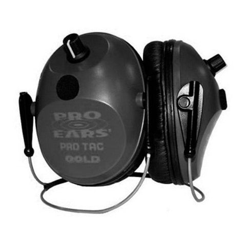 Pro Ears Pro Tac Plus Gold Noise Reduction Rating 26dB, Behind The Head, Lithium 123 Battery, Black