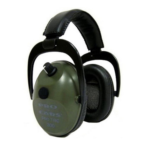 Pro Ears Pro Tac Plus Gold Noise Reduction Rating 26dB, Lithium 123 Battery, Green