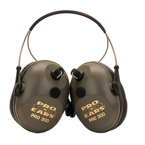 Pro Ears Pro 300 Behind the Head Noise Reduction Rating 26dB, Green