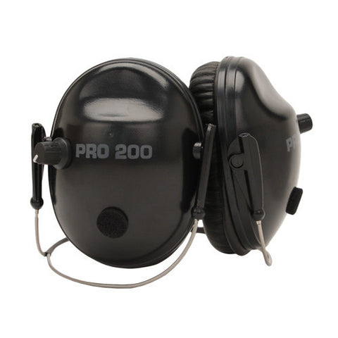 Pro Ears Pro Tac 200 Noise Reduction Rating 19dB, Behind The Head, Black