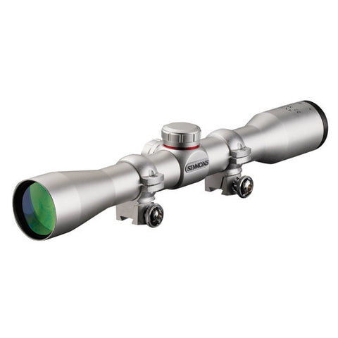 Simmons .22 Mag Series Riflescope 4x32 Silver, Truplex with Scope Rings