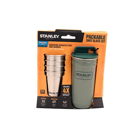 Stanley Adventure Stainless Steel Shot Glass Set 2 oz Green